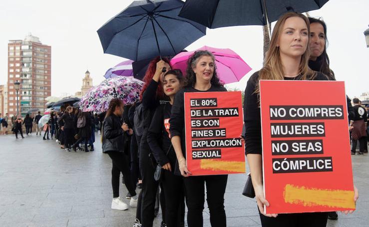 'Caminando por Libertad' conciencia contra la trata de personas y la abolición de la esclavitud en Valencia