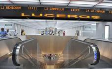La estación del Tram de Luceros no será accesible hasta diciembre