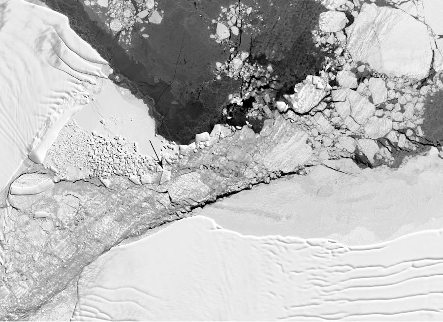 Un iceberg «insólito» para la NASA