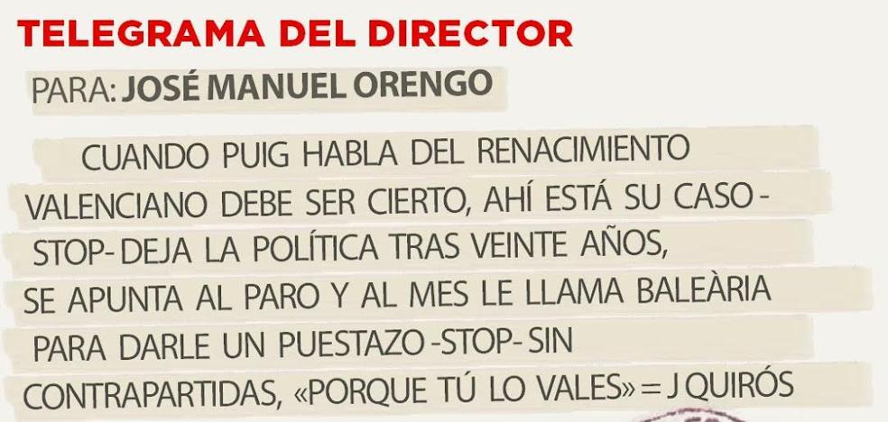 Telegrama para José Manuel Orengo