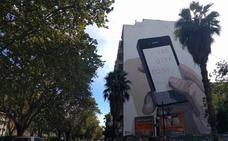 Escif ultima el mural gigante impulsado por Greenpeace en Valencia