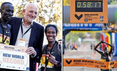 Kiptum ilumina Valencia con el récord del mundo de Medio Maratón