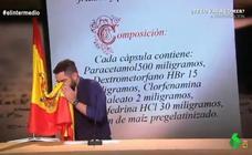 'El Intermedio': Dani Mateo se limpia la nariz con la bandera de España