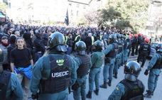 Máxima tensión en Alsasua por el acto de apoyo a la Guardia Civil