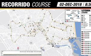 Recorrido del Maratón de Valencia 2018