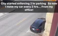 El ingenioso truco de un conductor para evitar multas de aparcamiento