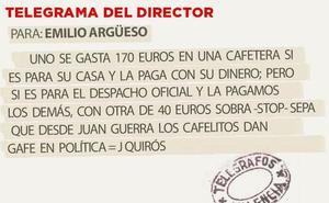 TELEGRAMA PARA EMILIO ARGÜESO