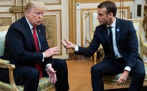 Un tuit incendiario tensa la visita de Trump a Francia