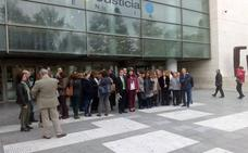 Masivo seguimiento de la huelga de los letrados de la Administración de Justicia
