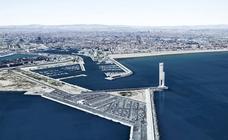 Figuración virtual de la Torre Eólica en la Marina de Valencia
