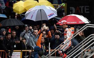 El circuito Ricardo Tormo espera lluvia para las carreras del domingo