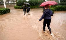 Inundaciones en la ciudad de Valencia por la tromba de agua