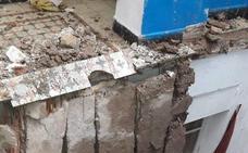 Se desploma una vivienda en la calle Progreso del Cabanyal