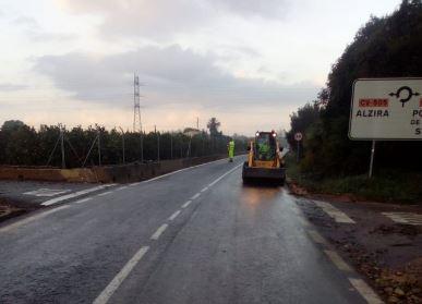 El temporal de lluvias remite y sólo una carretera permanece cortada por la lluvia en Valencia