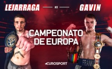 El invicto Lejarraga se mide a Gavin con la corona europea asegurada