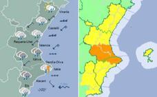 La alerta roja por fuertes lluvias en Valencia y Alicante pasa a nivel naranja