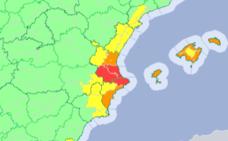 Valencia y Alicante en alerta roja por temporal hasta las 15:00 horas de hoy