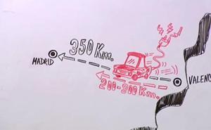 Vídeo | ¿Se puede ir en coche eléctrico de Valencia a Madrid?