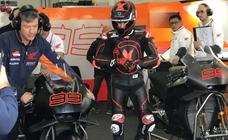 Lorenzo ya rueda con Repsol Honda en Cheste