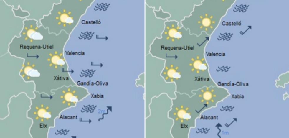 Previsión del tiempo cada hora en Valencia, Torrent, Gandia, Sagunto, Paterna y otras ciudades