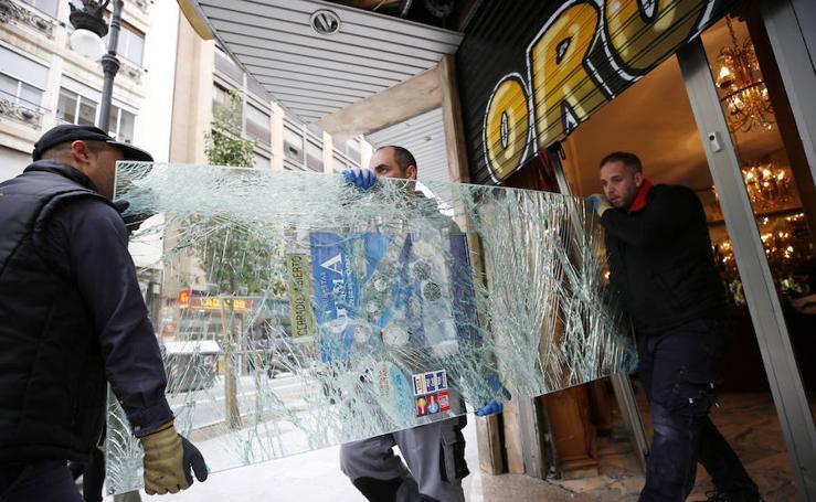 Intento de robo con alunizaje en pleno centro de Valencia