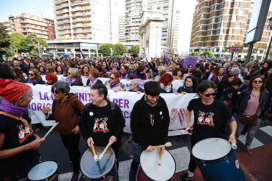 Fotos Manifestación contra la violencia de género en Valencia