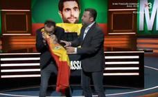 Esnifan la bandera de España en un programa de TV3