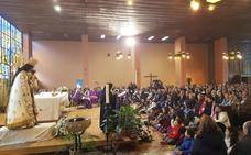 La Virgen de los Desamparados visita Madrid acompañada por numerosos peregrinos valencianos