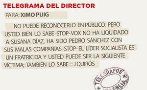 Telegrama para Ximo Puig