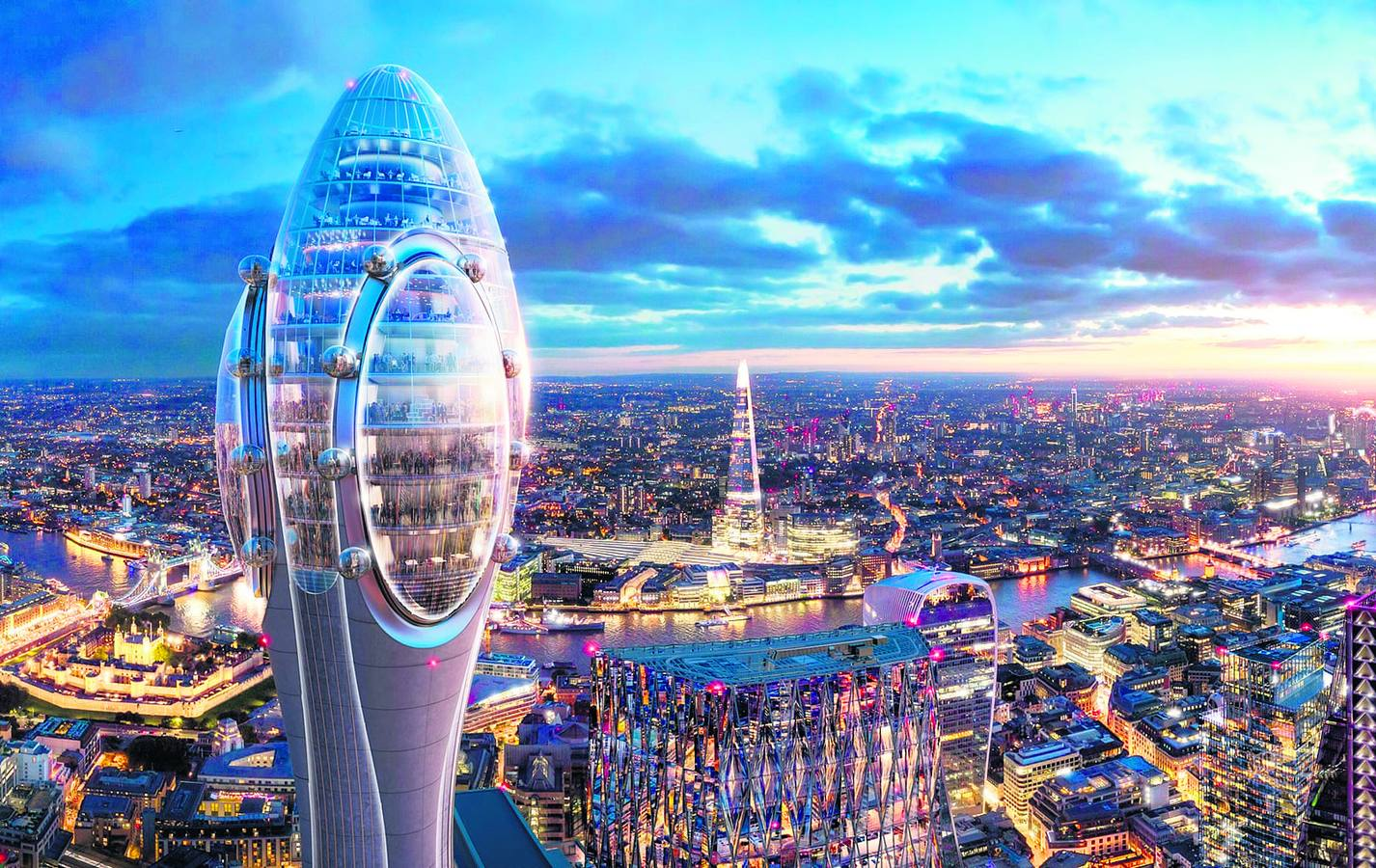 Londres planta un 'Tulipán'