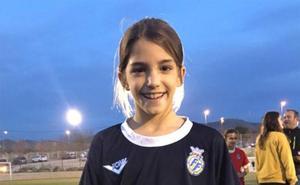 Marta Llorca de la EM FB Dénia participó de un entrenamiento con la Selección Valenciana Sub 12