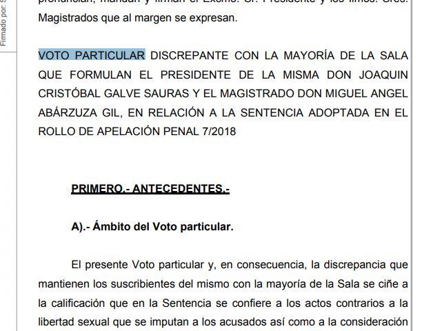 La sentencia firme de La Manada y los dos votos particulares