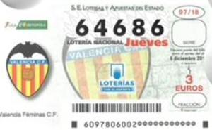 La Lotería Nacional del jueves 6 de diciembre de 2018 cae en la Comunitat