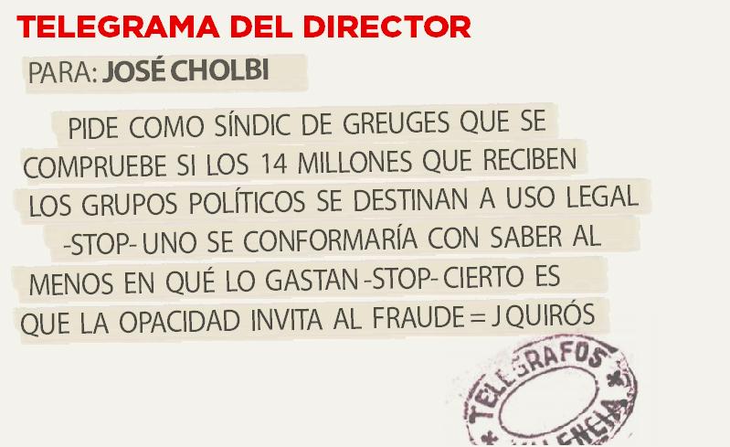 Telegrama para José cholbi