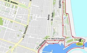 Calles cortadas el domingo y recorrido de la 10K 'Pas Ras al Port' de Valencia