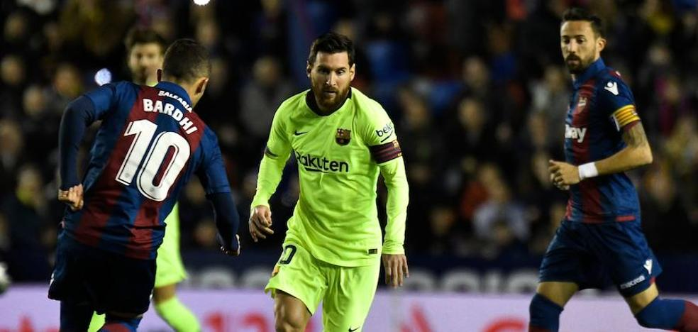 El Levante vive hasta que Messi quiere