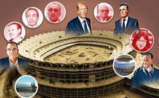 Los nueve presidentes del Nuevo Mestalla