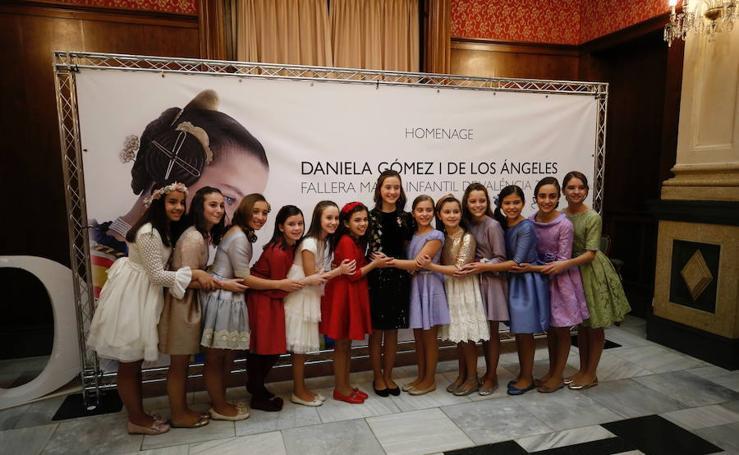 Fiesta de despedida de la fallera mayor infantil de Valencia 2018, Daniela Gómez de los Ángeles