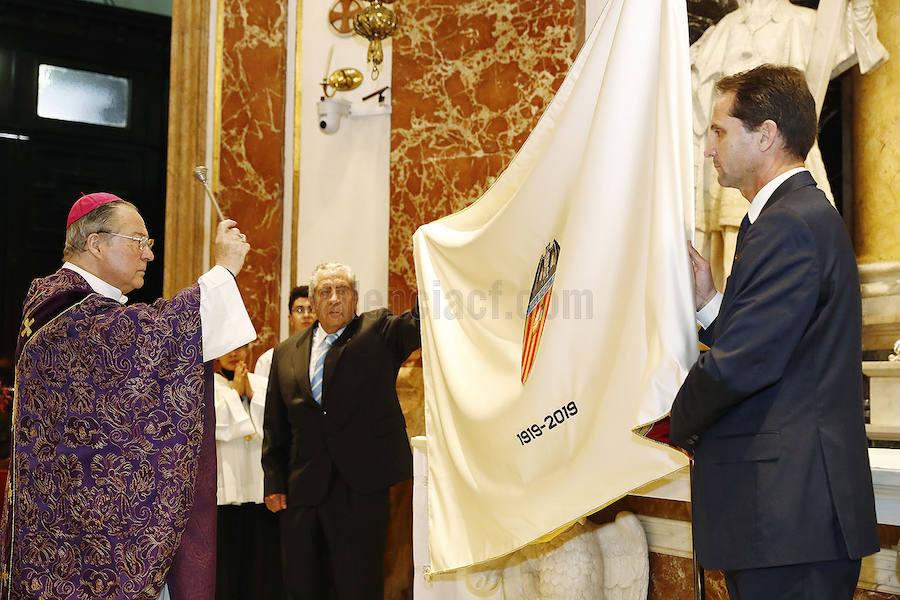 Fotos de la presentación de la bandera del Centenario