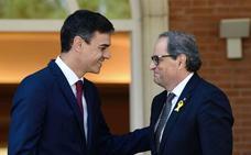 La Generalitat garantiza una «cumbre» entre Sánchez y Torra y dos ministros y dos consejeros esta tarde