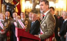 El Rey ensalza la bandera española como símbolo de «unidad e integridad»