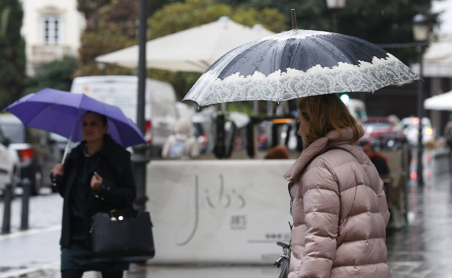 Fuerte descenso de las temperaturas y lluvias débiles en Valencia