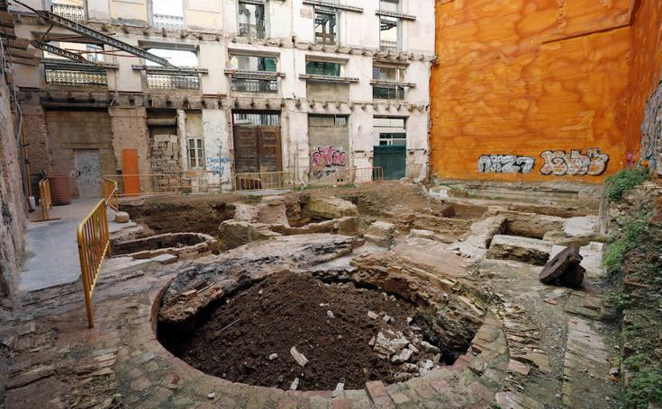 Fotos del cementerio islámico encontrado en el Solar de la Plaza del Arbol, en el barrio del Carmen