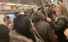 Colapso en el metro de Valencia por el primer día de huelga tras Navidad