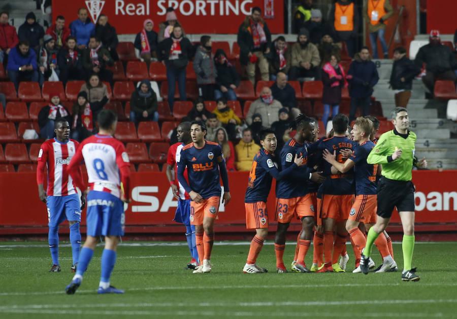 Fotos del Sporting-Valencia CF de Copa del Rey