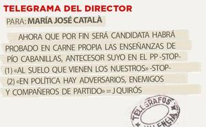 Telegrama para María José Català