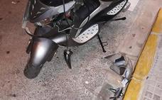 Herido un motorista en un accidente en Puerto de Sagunto
