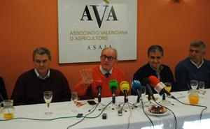 AVA acusa a la Generalitat de pasividad ante la crisis que atraviesa la agricultura
