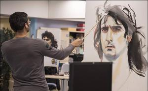 Luis Lonjedo pinta la historia del Valencia CF para los lectores de LAS PROVINCIAS