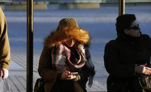 Las temperaturas caen hasta los nueve grados bajo cero